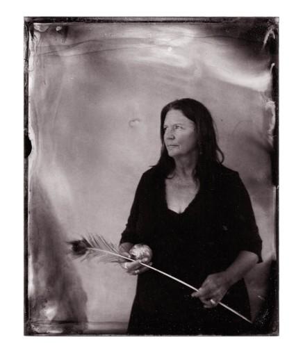 "Artist Judy Pekeslma Carrizozo New Mexico 4""x5"" Alumitype ©2014 Marc De Clercq"